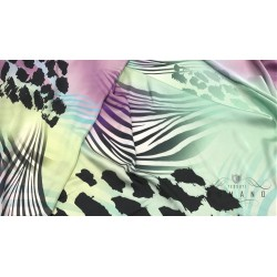 Satin color animalier