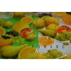 Tovaglia trasparente con frutta